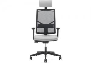 Кресло офисное на роликах play black с подголовником