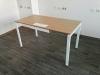 стол офисный с люком для кабеля  140х75х70 KD-1470 со склада
