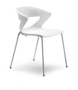 Кресло офисное kicca конф. На четырех ножках