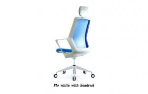 Кресло flo white с подголовником