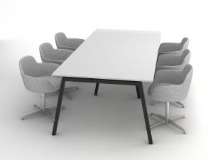 Стол офисный для переговоров в белом цвете 260х75х120 rdm-2612 на 6-8 человек