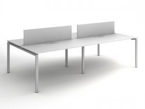 стол офисный для четырех рабочих мест 280х75х140 KD-2814