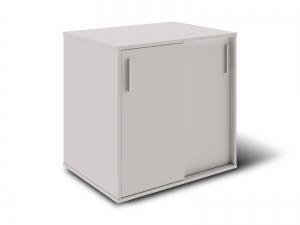 Тумба под принтер с раздвижными дверьми на 2 полки 80х80х60 арт. Ur-222SL