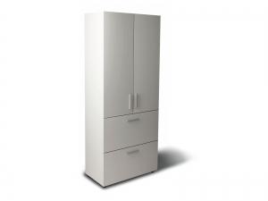Шкаф для документов офисный на 3 полки и 2 файловых ящика (3 полки закрыты фасадами) 80х193х42 арт. Ur-2523f