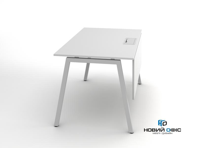 Стильный офисный стол в белом цвете 140х75х70rd-1470 | Фото - 6