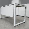 Стильный стол для персонала в белом цвете 140х75х70 kqd-1470  | Фото - 3