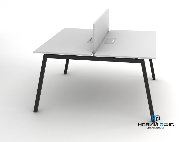 Современный офисный стол для двух рабочих мест 140х75х140 rd-1414 | Фото - 1