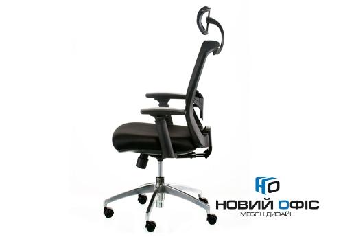 Кресло down black с подголовником | Фото - 1