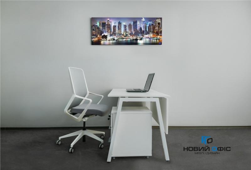 Стильный офисный стол в белом цвете 140х75х70rd-1470 | Фото - 2