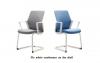 Кресло офисное flo white конференц на полозьях
