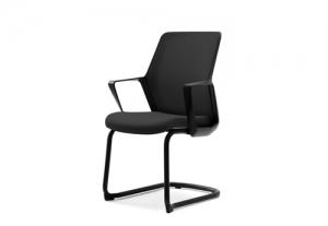Кресло офисное flo black конференц на полозьях