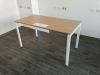 Стильный офисный стол с люком для кабеля  140х75х70 kd-1470 со склада