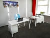 Стильный офисный стол в белом цвете 140х75х70rd-1470 | Фото - 5