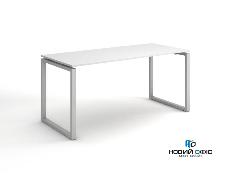 Стильный стол для персонала в белом цвете 140х75х70 kqd-1470  | Фото - 0