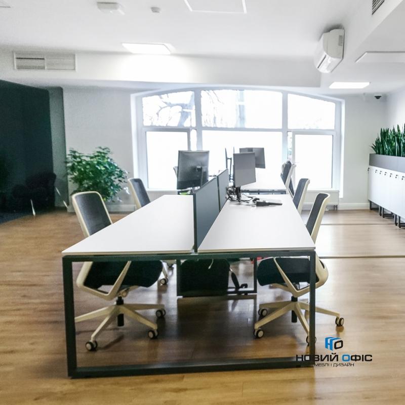 Офисный стол на 4 человека 280х75х140 kqd-2814 | Фото - 5