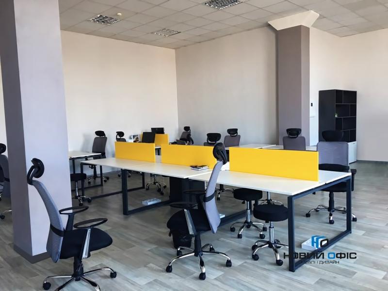 Офисный стол на 4 человека 280х75х140 kqd-2814 | Фото - 6