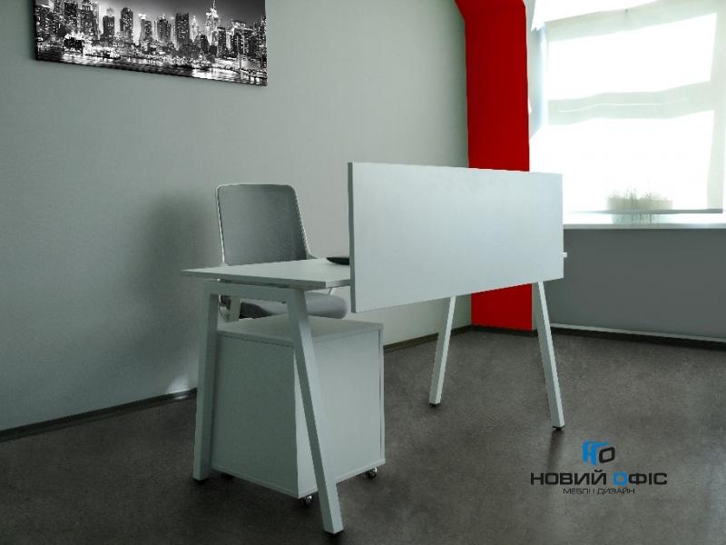 Стильный офисный стол в белом цвете 140х75х70rd-1470 | Фото - 8