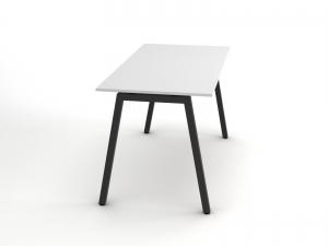 Стильный офисный стол c темно-серыми ножками 140х75х70rd-1470