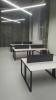 Стильный белый офисный стол с черными ножками 140х75х70 kqd-1470  | Фото - 3