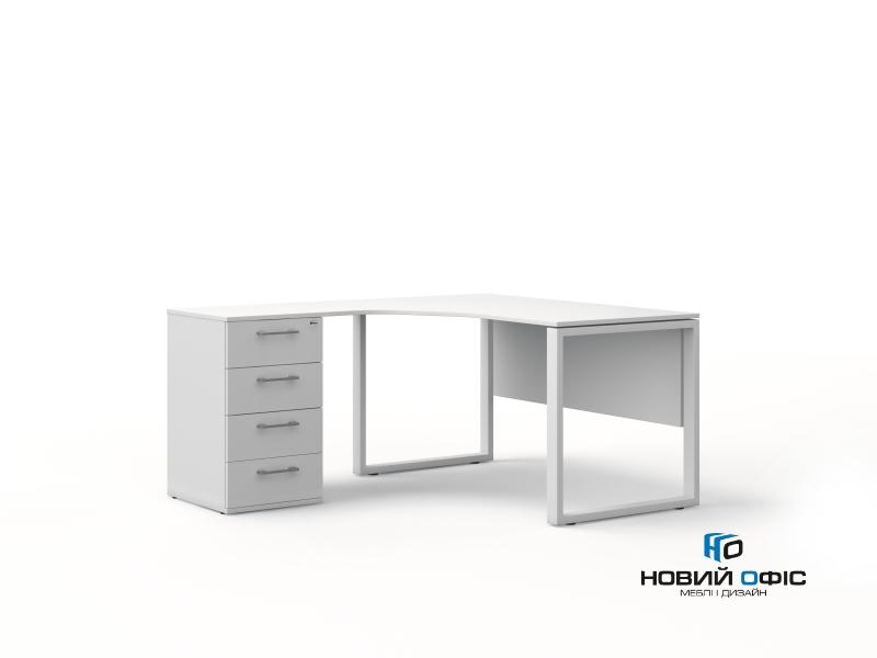 Угловой офисный стол тумбовый 140х75х157/70 kqd-14157-L/R | Фото - 4