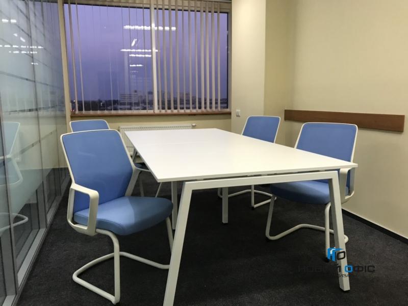 Стол офисный для переговоров в белом цвете 260х75х120 rdm-2612 на 6-8 человек | Фото - 1