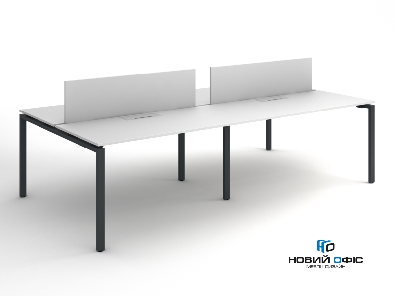 Офисный стол на 4 человека 280х75х140 kd-2814 | Фото - 1