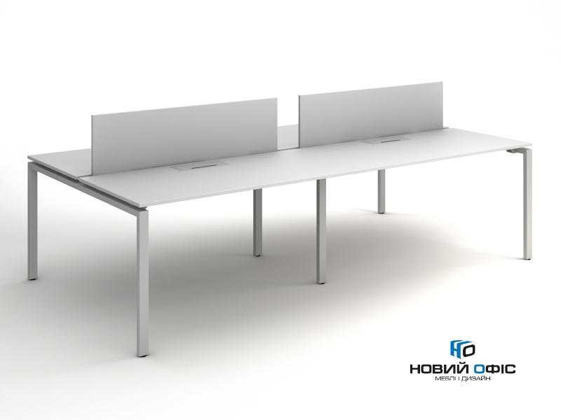 Офисный стол на 4 человека 280х75х140 kd-2814 | Фото - 0