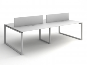 Офисный стол на 4 человека 280х75х140 kqd-2814
