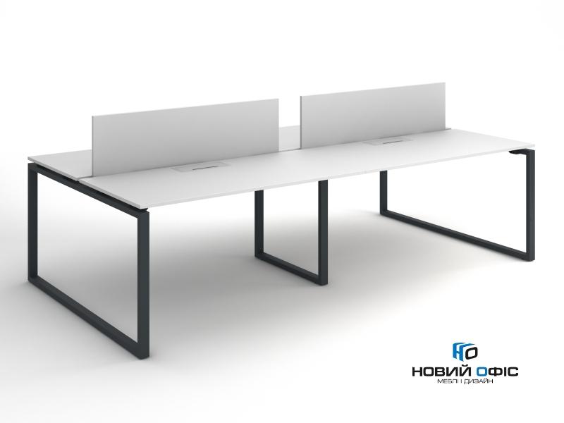 Офисный стол на 4 человека 280х75х140 kqd-2814 | Фото - 2
