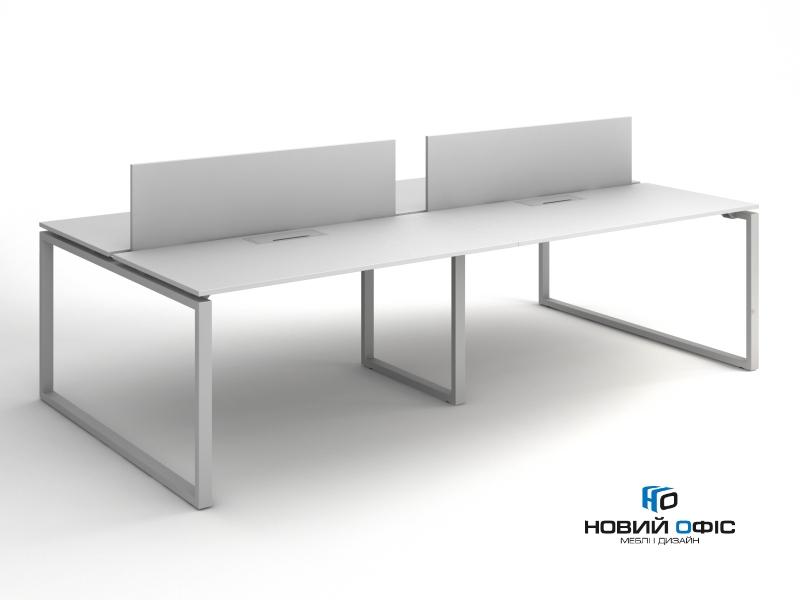 Офисный стол на 4 человека 280х75х140 kqd-2814 | Фото - 0
