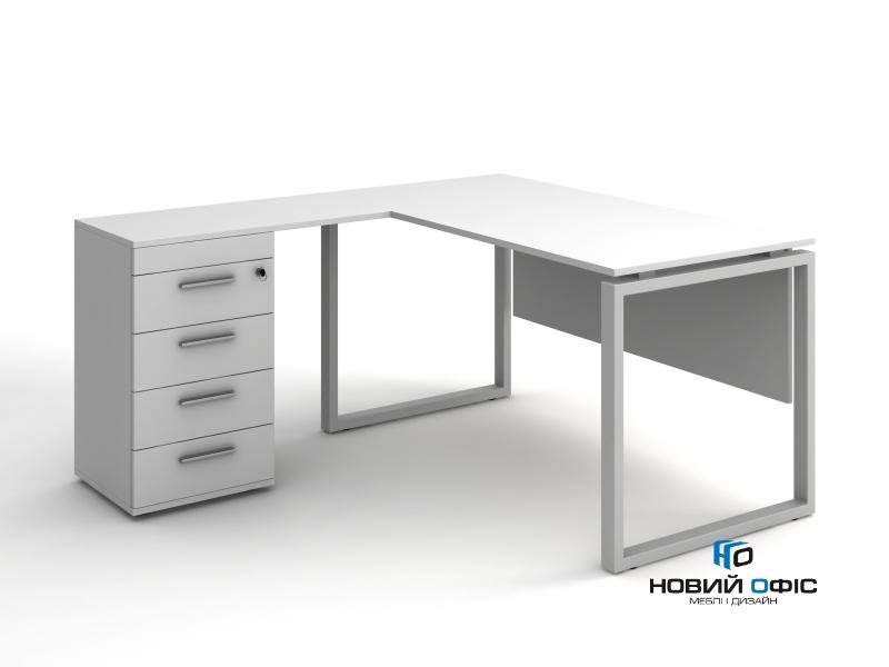 Угловой офисный стол тумбовый 140х75х150/70x40 kqd-14156 L/R | Фото - 2