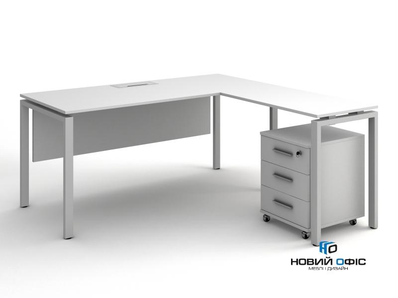 стол офисный угловой  140х75х140/70x50 kd-14147 L/R | Фото - 3