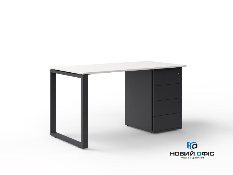 офисный стол с тумбой 140х75х70 kqdz-1470CP | Фото - 1