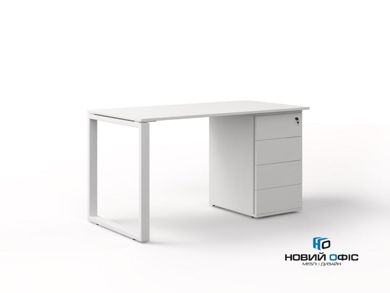 офисный стол с тумбой 140х75х70 kqdz-1470CP | Фото - 0