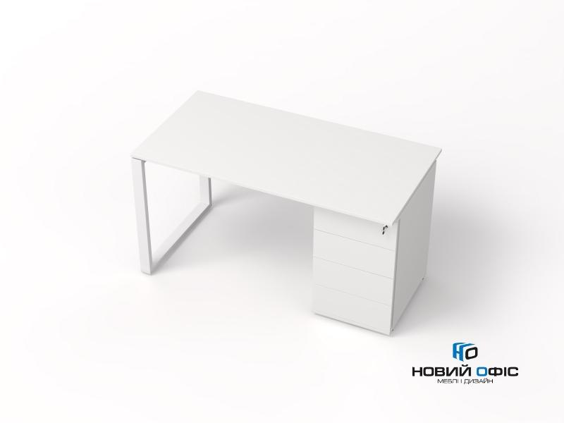 офисный стол с тумбой 140х75х70 kqdz-1470CP | Фото - 3