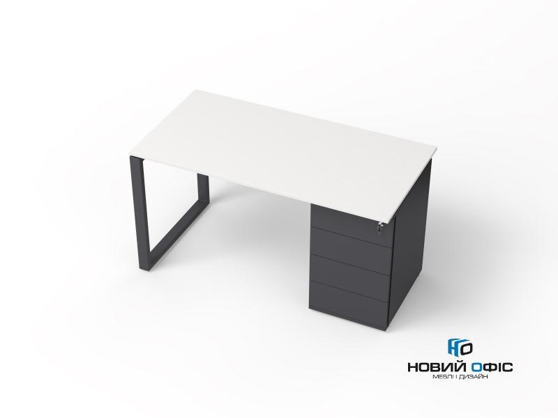 офисный стол с тумбой 140х75х70 kqdz-1470CP | Фото - 2