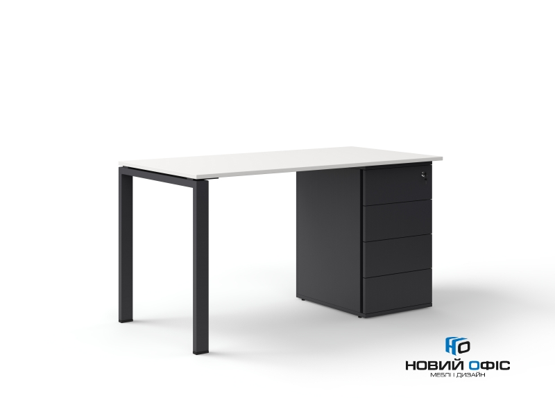 офисный стол с тумбой 140х75х70 kdz-1470CP | Фото - 1