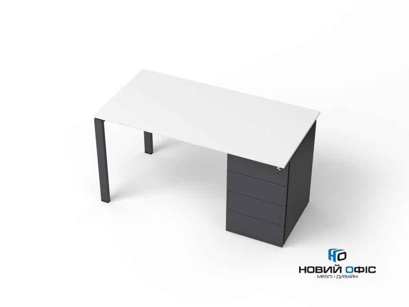офисный стол с тумбой 140х75х70 kdz-1470CP | Фото - 2