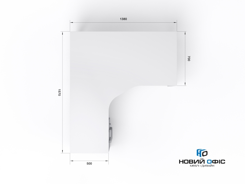Угловой офисный стол тумбовый 140х75х157/70 kqd-14157-L/R | Фото - 6