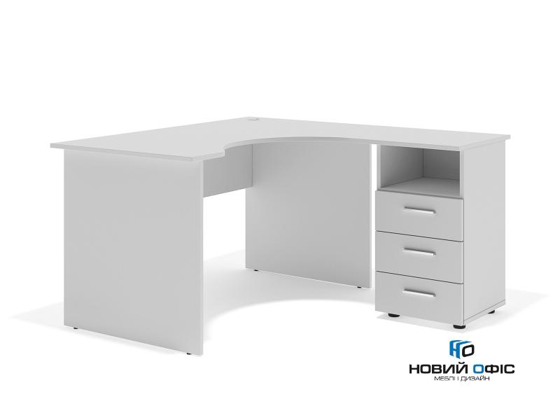 Угловой офисный стол тумбовый 135х75х130/70x40 sd-13157R | Фото - 1