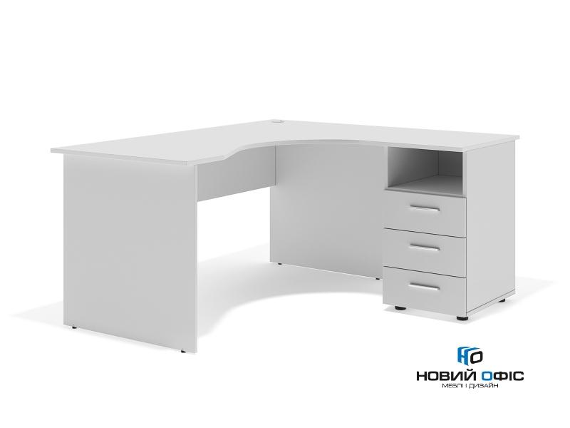 Угловой офисный стол тумбовый 160х75х140/74 sd-16147R | Фото - 1