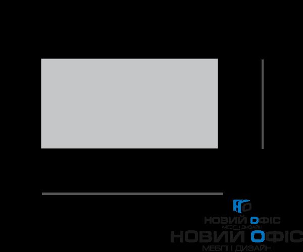 Стильный белый офисный стол 140х75х70 kd-1470  | Фото - 2