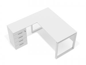Угловой офисный стол тумбовый 140х75х150/70x40 kqd-14156 L/R
