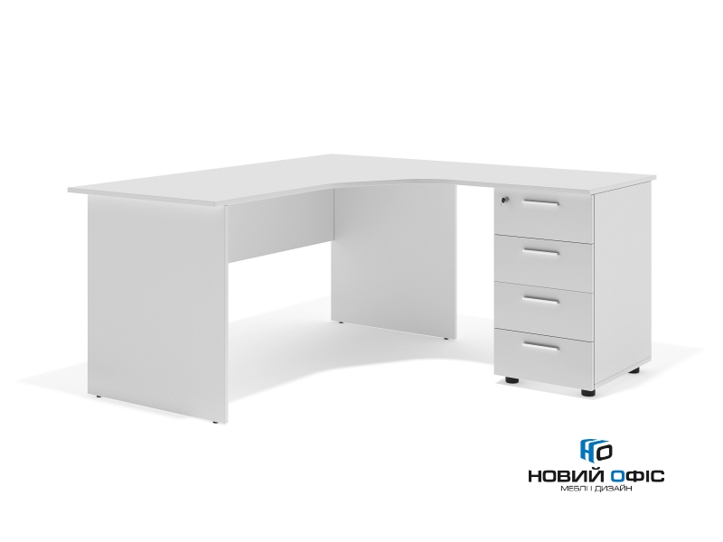 Угловой офисный стол тумбовый 160х75х130/70x40 sdk-16157R | Фото - 1