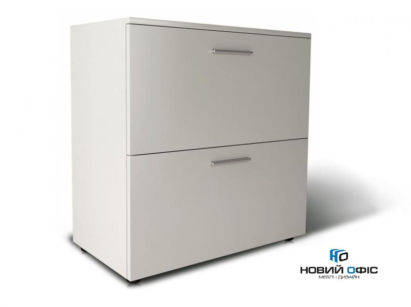 Шкаф для документов офисный на 2 файловых ящика 80х80х42 арт. Ur-222f | Фото - 0