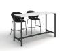высокий стол для переговоров 160х120х60 kdm-1660 | Фото - 1